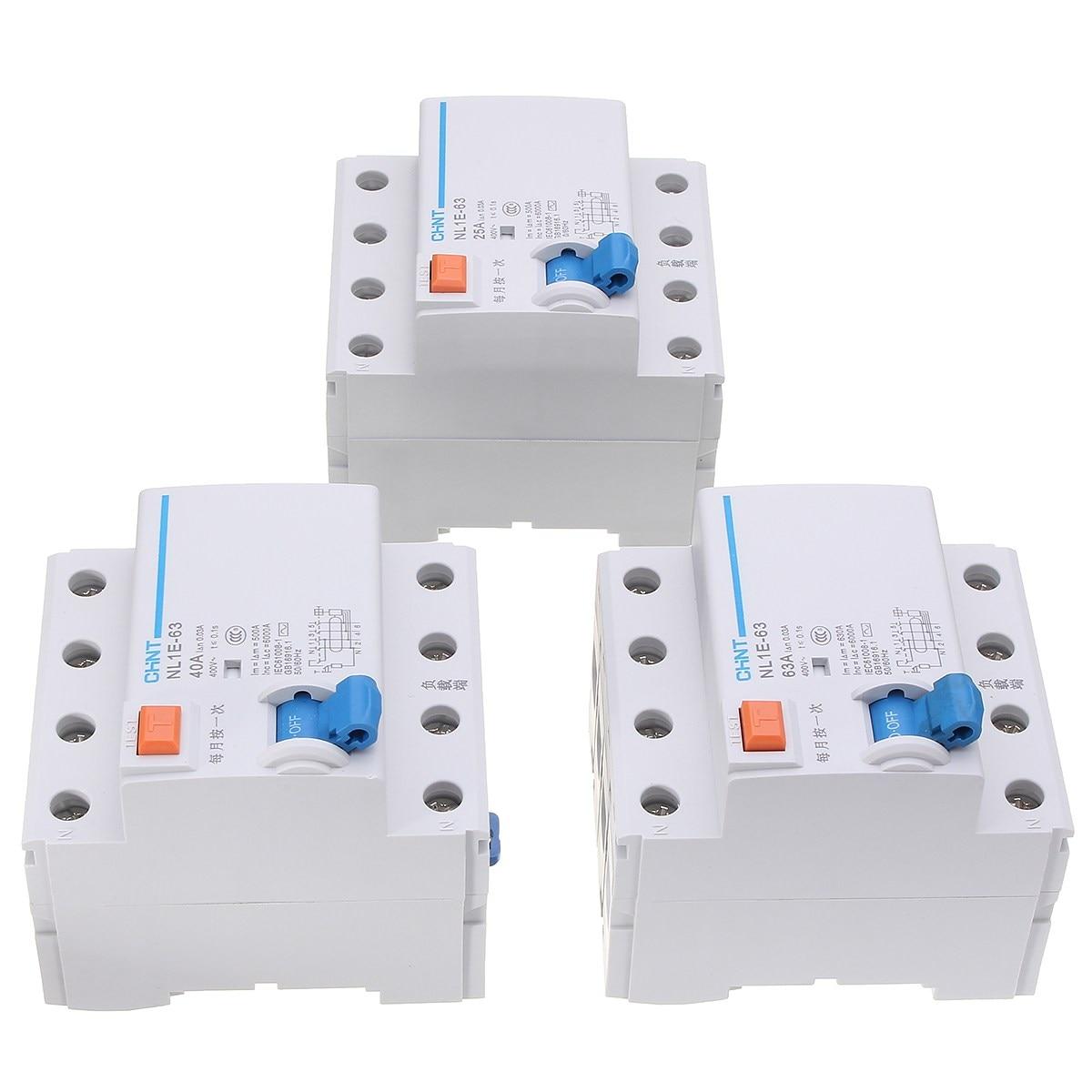 25/40/63A Miniature Circuit Breaker NL1E-63 AC 400V 4 Pole Rated Current [zob] hagrid mc306p miniature circuit breaker c6 3p6a 5pcs lot
