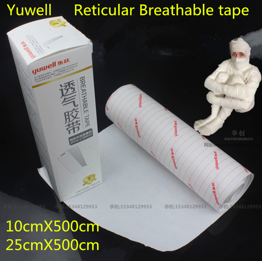 100pcs medical use hypoallergenic no woven wound dressing adhesive absorbet bandage large wound emergency outdoor accessories medical anti-allergic non-woven bandage Reticular Breathable tape protect wound spunlace cloth white autohesion Adhesive tape