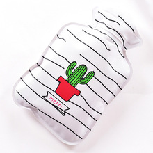 Mini Cartoon Handy PVC Water-filled Type Warm Hand Treasure Hot Water Bag Bottle Container Hot Sale