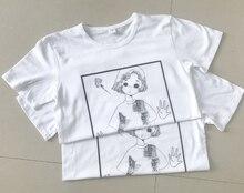 NiceMix 2019 Summer Harajuku T Shirt Women Gothic Tops ok Print Cartoon Girl Kawaii Short Sleeve Loose Cotton Tee Femme