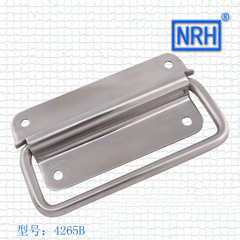 NRH4265B SUS304 stainless steel handle flight case handle  Factory direct sales Wholesale price high quality handle m75 750kgs pulley 304 stainless steel roller crown block lifting pulley factory direct sales all kinds of driving pulley