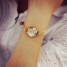Lady Women's Thin Watch Luxury Brand Gold Watch Women Watches Women Wristwatches Dress Korea Bracelet Lover's Gift New Design
