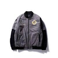 Winter Men Bomber Flight Jacket Casual Pilot Air Force Jacket For Men Women Print Zip Up
