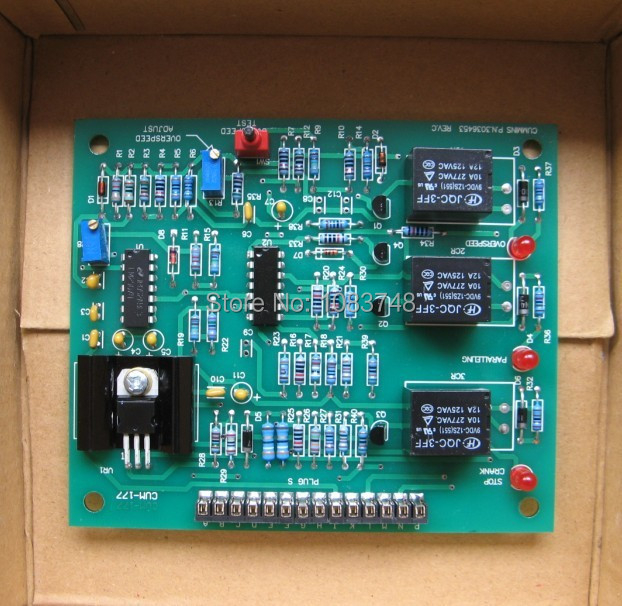 цена на Overspeed Switch For Diesel Engine Spare Parts Generator Over Speed Controller 3036453 PCB board