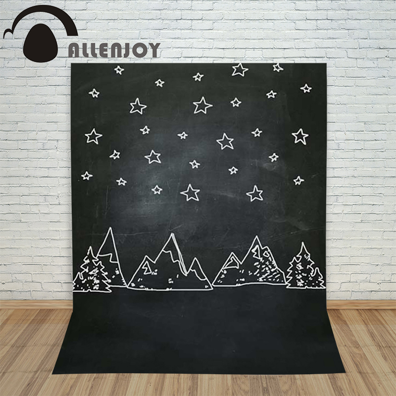 Allenjoy christmas photography backdrop Black and white stars children's photocall photo Customize festive allenjoy christmas photography backdrop wooden fireplace xmas sock gift children s photocall photographic customize festive