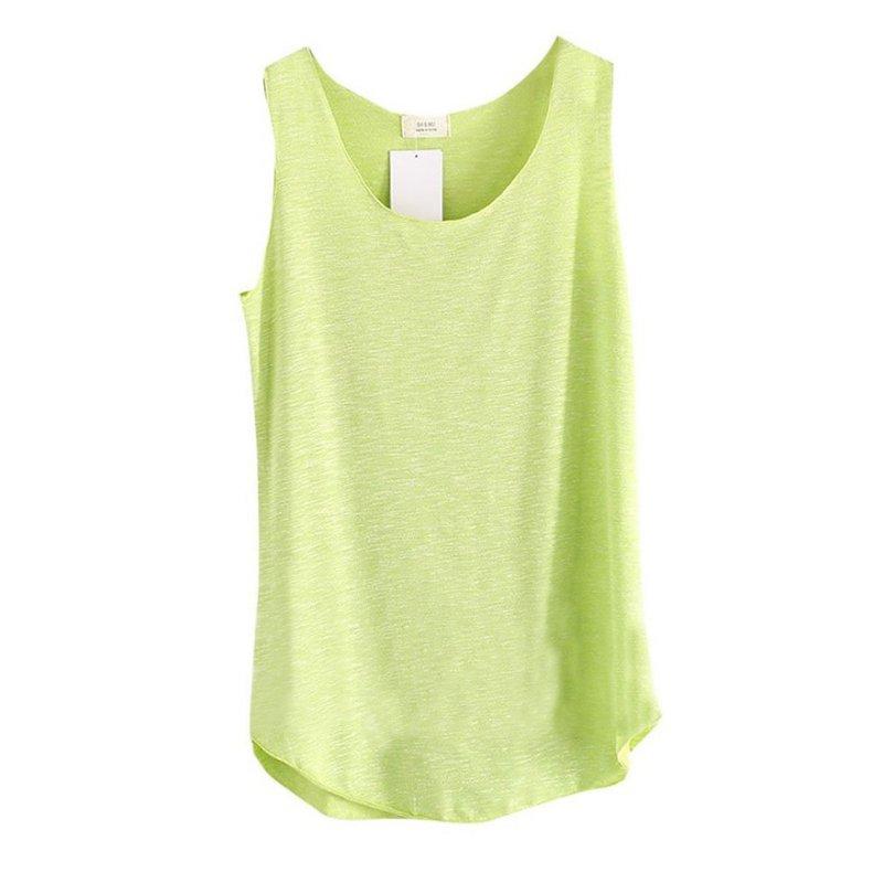 2017 baju musim panas wanita buluh kapas tanpa lengan pusingan leher - Pakaian wanita - Foto 3