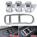 ABS 4pcs/set Door Window Lift Switch Control Button Bezel Cover Trim Frame Decoration For Freelander 2 Car Styling