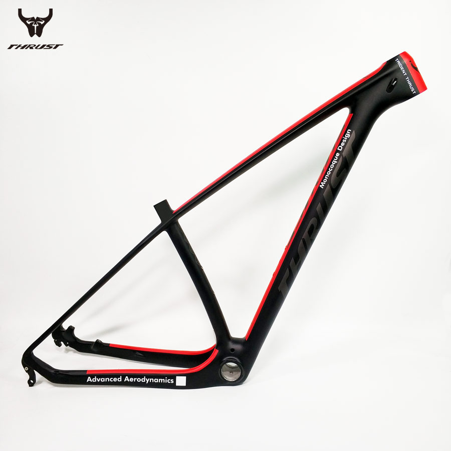 THRUST Bicycle Frame Carbon Fiber Bike Frame mtb 15 17 19 29er 27.5er Mountain Bike Carbon Frame BSA BB30 Red 8 Colors carbon frame mountain bike frame 26inch bike frame bicycle frame
