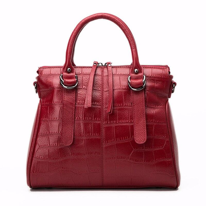Moxi Stone Pattern Women Handbags Natural Genuine Leather Female Messenger Bags Large Capacity Shoulder Totes Luxury Leather Bag