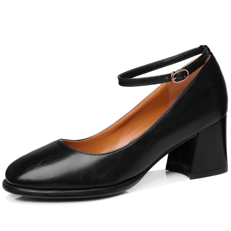 ФОТО Women's Spring 2017 Black Work Office Party Wedding Ankle Strap Buckle Girl Lady Pumps Shoes