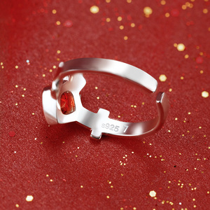 Image 4 - [مصير البقاء ليلة] رين Tohsaka خاتم أنيمي 925 فضة مجوهرات Emiya عمل الشكل مصير الطلب الكبير FGO FSN هدية