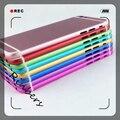 Para iphone 6 s plus negro/gris/plata/oro/color de rosa/rojo/azul oscuro/verde/púrpura chasis cubierta de la contraportada puerta de la batería de reemplazo