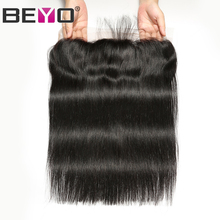 Lace-Frontal-Closure Baby-Hair Remy-Beyo 100%Human-Hair Free/middle/three-part Indian