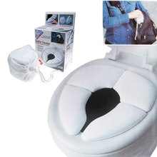 Portable toilet seat pad cover the Folding travel ring infant child with storage