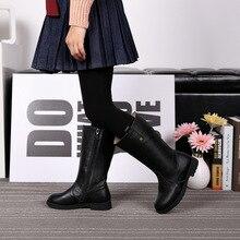 Новая зимняя девушки натуральная кожа сапоги slipproof водонепроницаемый снега сапоги для девочек зимние теплые ботинки детские ботинки 16939