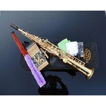 Wholesale Beautiful golden Bb straight soprano saxophone saxophone France Henry Reference 54