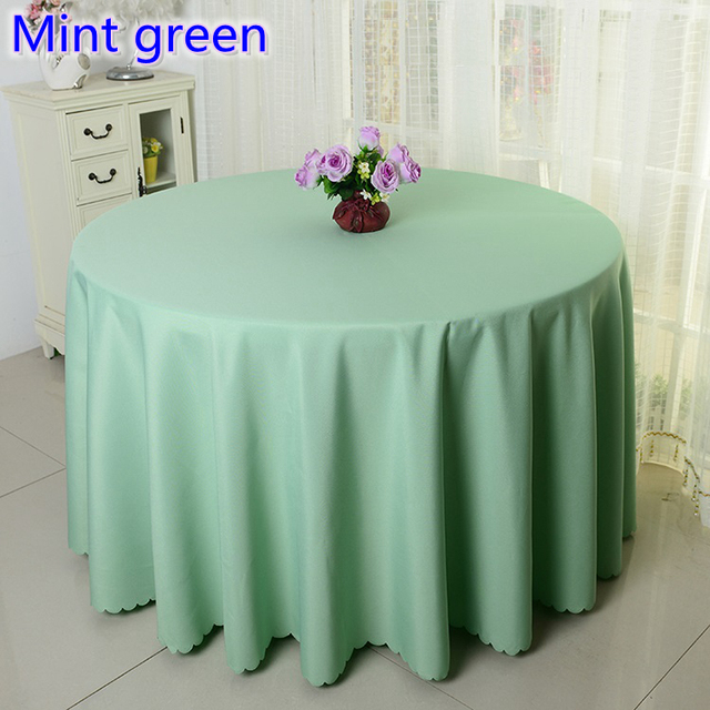 Mint green colour wedding table cover table cloth polyester table