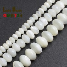 где купить Natural Beads White Mother Of Pearl Mop Shell  Beads Loose Beads  For Jewelry Making Bracelet Necklace 15 inches Diy Jewelry по лучшей цене