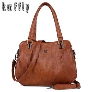 Image 1 - 2019 Retroผู้หญิงกระเป๋าถือ3ชั้นกระเป๋าหญิงMessengerกระเป๋าผู้หญิงหรูหรากระเป๋าหนังแฟชั่นCasual Lady Tote
