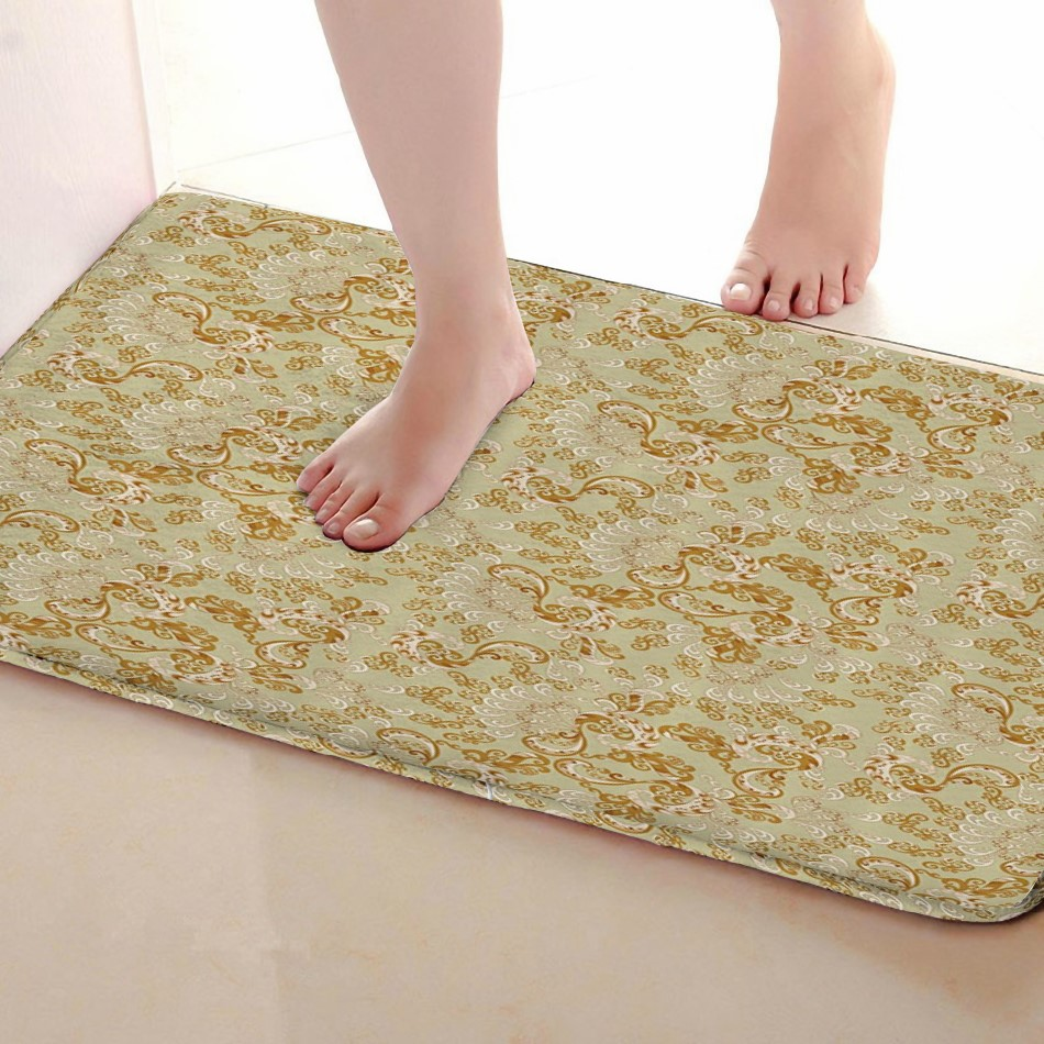 Wave Style Bathroom Mat,Funny Anti skid Bath Mat,Shower Curtains Accessories,Matching Your Shower Curtain