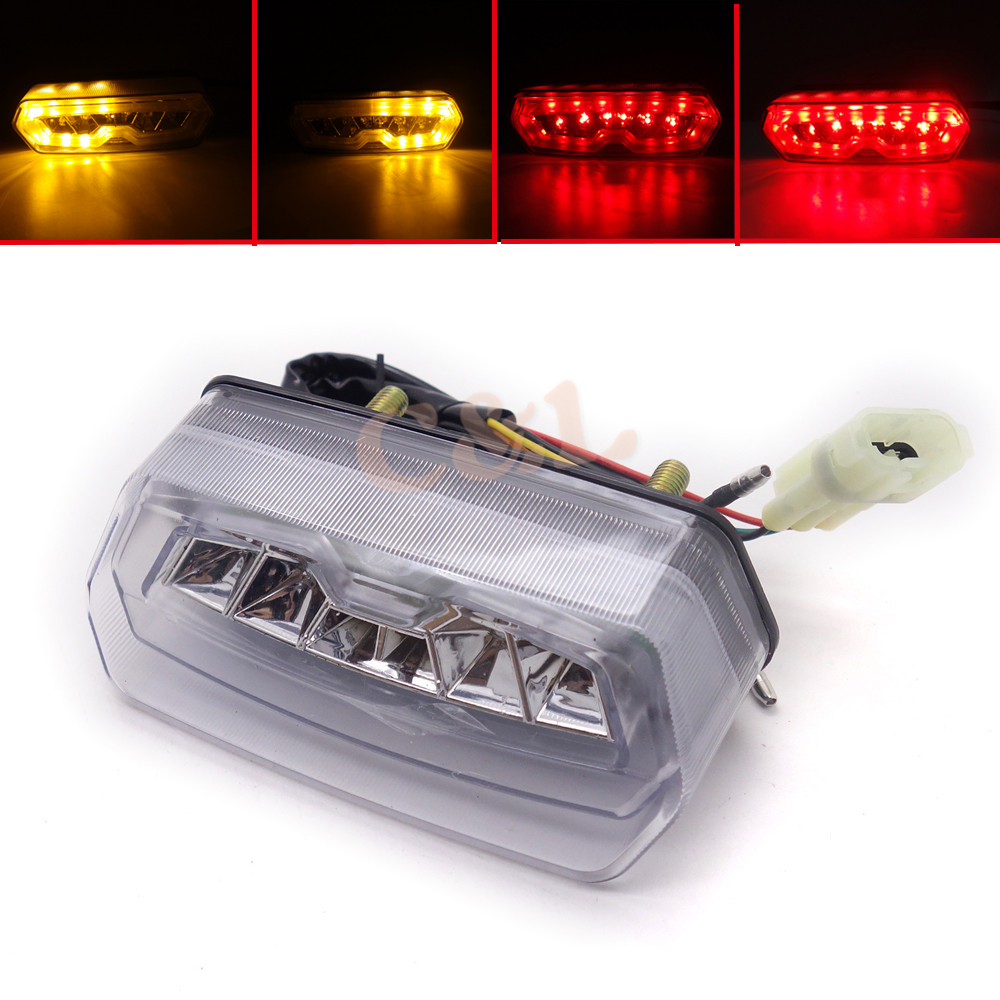 Motorcycle Clear Integrated LED Tail Stop Turn Signals Light For Honda Grom 125 MSX 2014-2016 Honda Grom