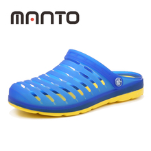 Men's Slippers Garden Shoes Summers Breathable Sandals Garden Beach Flat With Shoes Men Fashion Mules Clogs Slippers