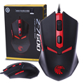 Professional USB  2000CPI 8D Adjustable  Weights E-sport Wired Gaming Mouse with LOGO LED Backlit  for Pro Gamer