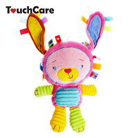 32CM Colourful Tags Animals Soft Kids Plush Toys Infant Baby Rattles Sounding Doll Kawaii Pelucia Brinquedos
