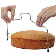 Cuchillo para cortar pasteles de 10 pulgadas DIY de acero inoxidable de doble línea ajustable para mantequilla y pan cortador de pasteles herramientas de horno doméstico para Cocina