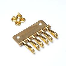5 шт аксессуары для сумок латунный ключ с 6 кнопками держатель