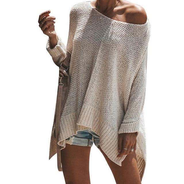 Laamei צבעים בוהקים נשים מקרית הסוודר סוודרי נקבה גבירותיי סרוג Loose Streetwear סתיו חורף סוודר חדש
