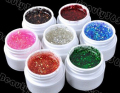 2015 New 24pcs Mix Color Nail Gel Shimmering Powder Nail Art Builder Glitter UV Gel polish