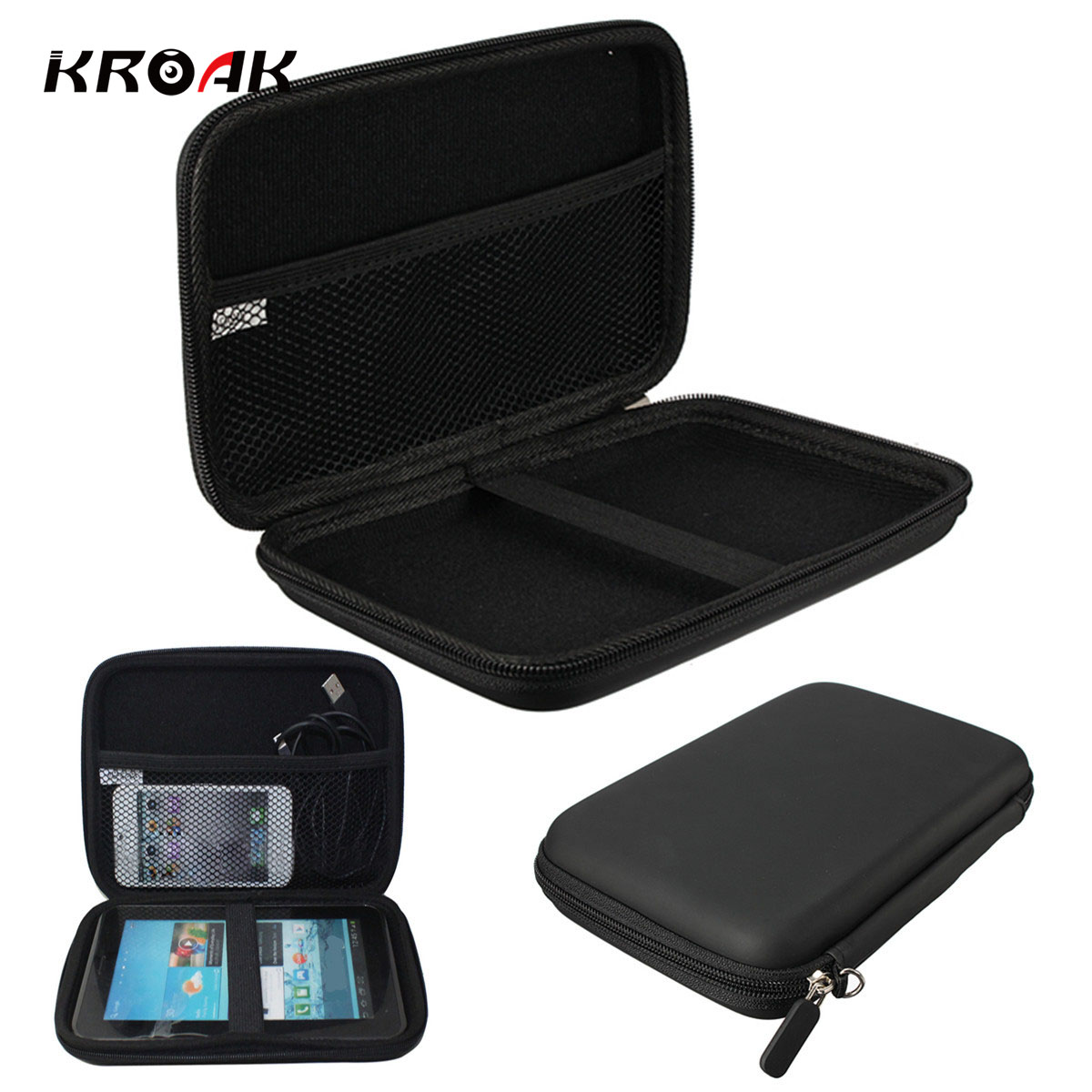 все цены на KRAOK Portable 7 inch GPS Navigation Storage Bag GPS Protection Cover Case PU EVA Hard Shell Box Carry Case Cover for TomTom онлайн