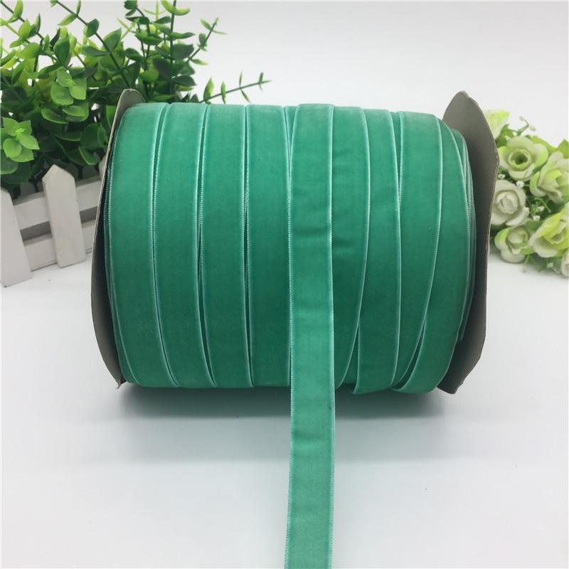 """5 ярдов 5/""""(15 мм) бархатная лента для украшения свадебной вечеринки лента ручной работы подарочная упаковка бантик для волос DIY Рождественская лента - Цвет: Cyan"""