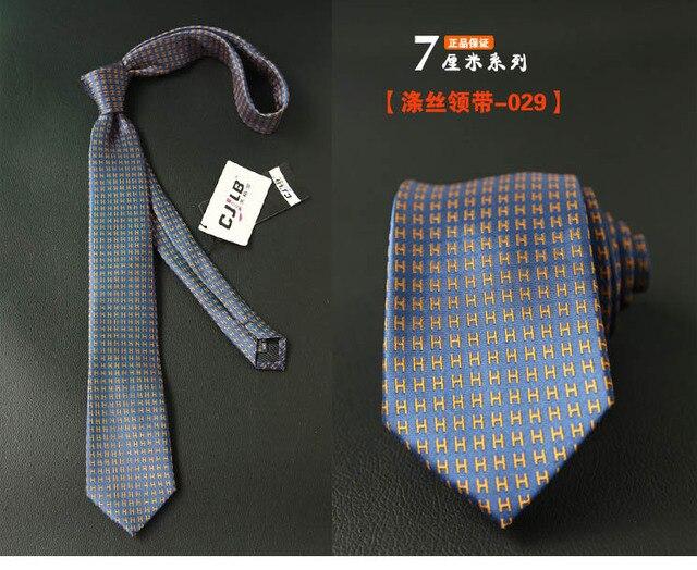 Узкий мужской галстук в полоску, новый дизайн  5