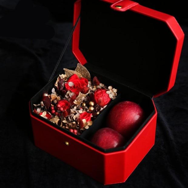 23X17X12 CM octogonal rectangulaire fleurs boîte cadeau boîte à clapet cadeau de mariage cadeau d'anniversaire