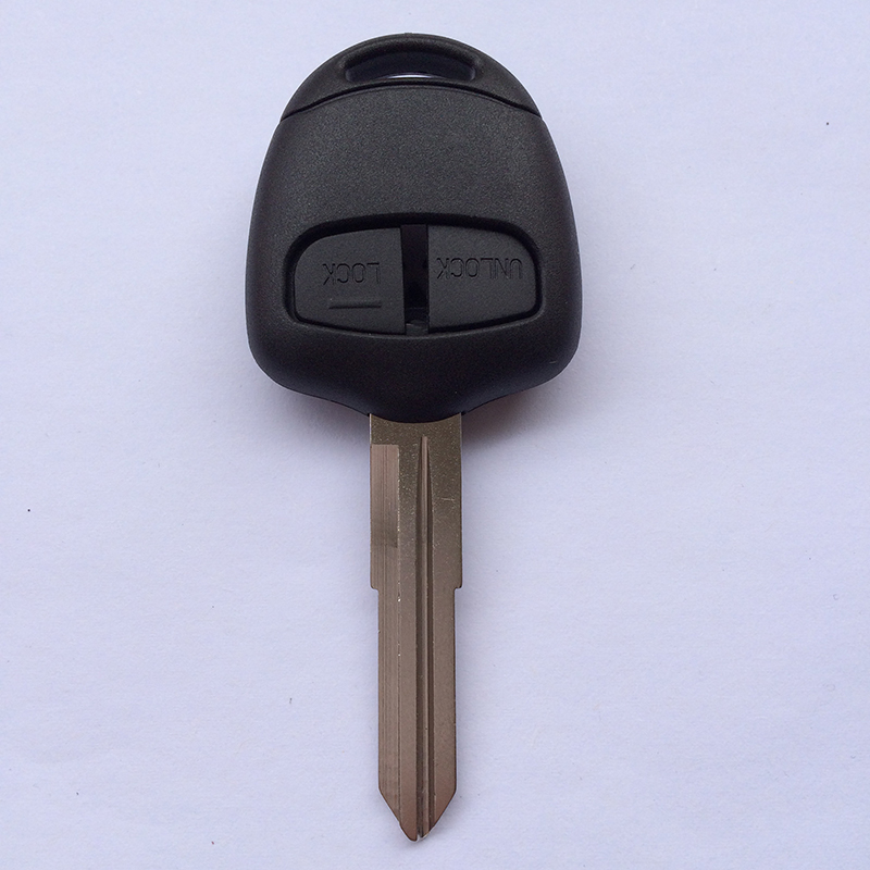 Chiave / guscio chiave a distanza a 2 pulsanti di alta qualità per Mitsubishi Pajero Lancer Evolution Grandis Outlander con lama destra MIT11
