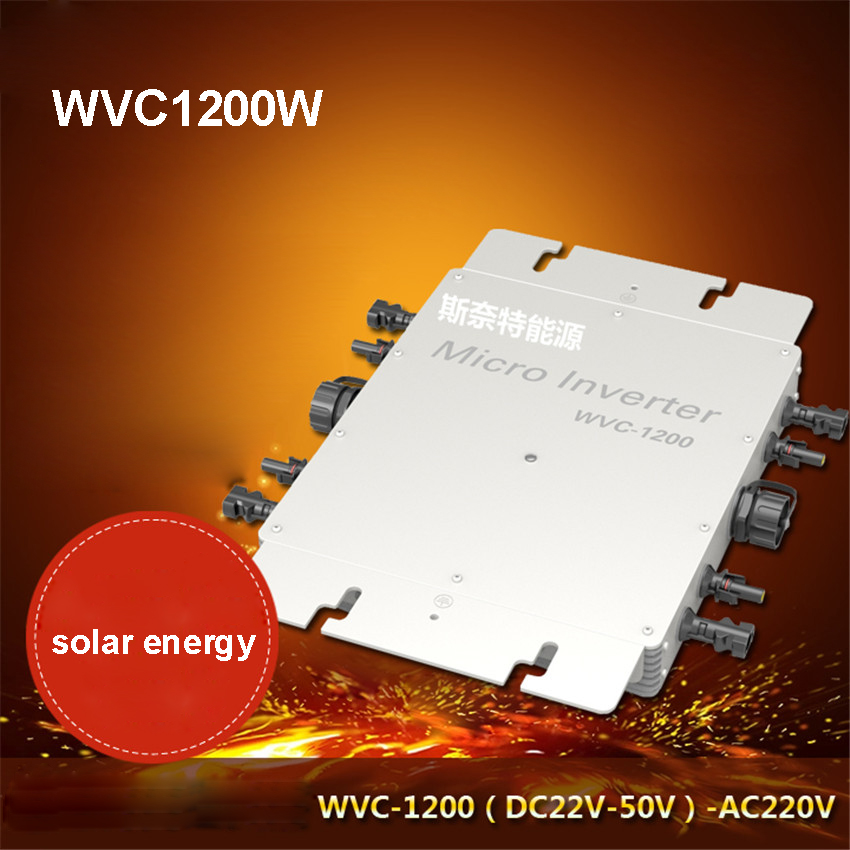 цена на 1200 W 220 V Solar Grid Tie Inverter Sine Wave Pure Inverter WVC1200  Solar Grid Connected Inverter