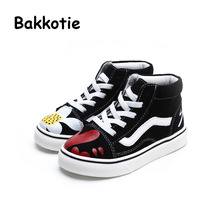 Bakkotie 2017 New Spring Autumn Fashion Baby Boy Casual Sport Shoe Leisure High Lace Up Trainer Flower Breathable Sneaker Girl