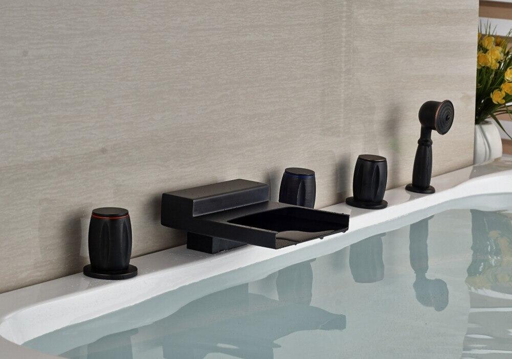 ୧ʕ ʔ୨breve deck mounted bronzo lucidato olio da bagno della