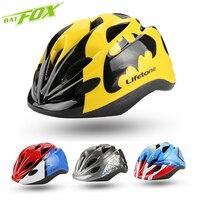 BATFOX New Kid Bicycle Helmets Batman Hero Style Safety Bike Helmet Night Light Ultralight Children Cycling