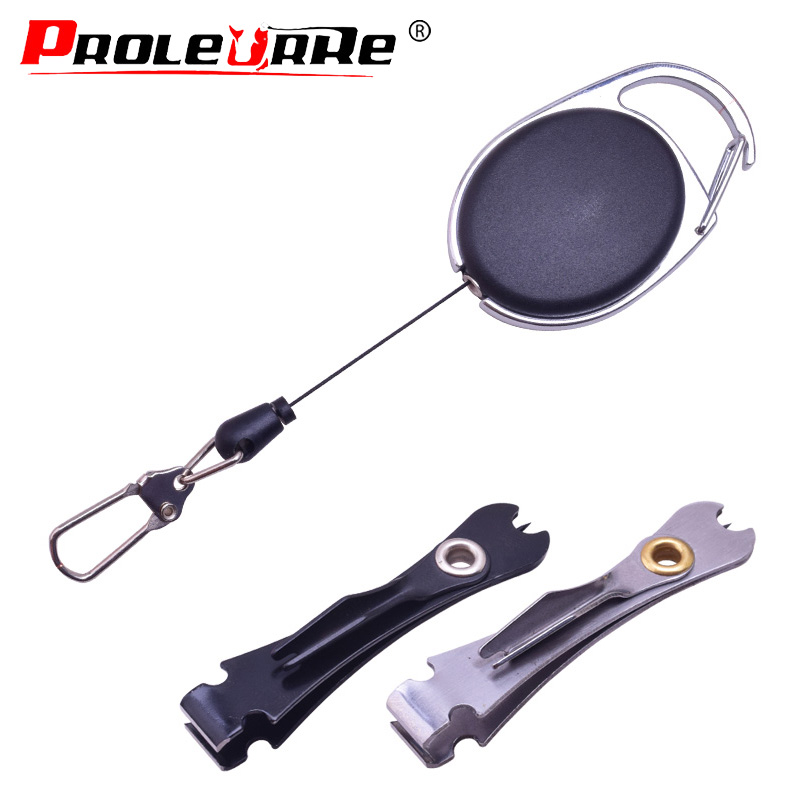 Fly Fishing Line Portable Retractable Pull Buckle Scissors Cutter Multifunctional Tie Fast Knot Tying Tool Hooks Tools Nipper(China)
