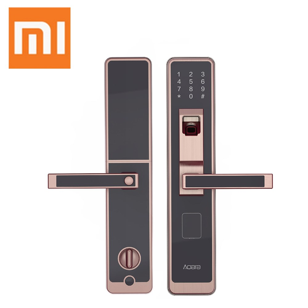 Xiaomi Mijia Aqara Smart Door Lock Digital Touch Screen Keyless Fingerprint Password Work to mi Home App Phone Control [ international version ] xiaomi mijia yunmai premium smart scale body fat scale with fitness app