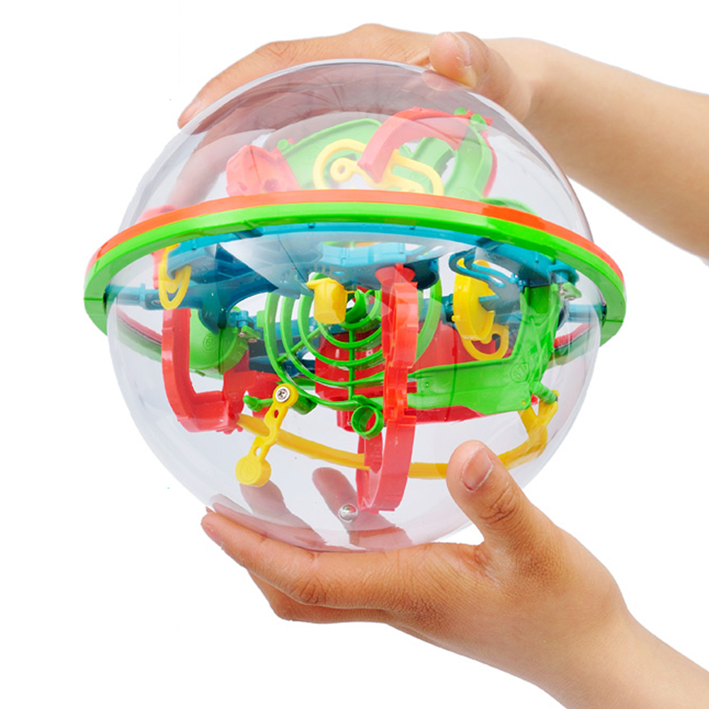 Children Gift 3D Magic Maze Ball Toys for Children Balance Logic Ability Block Game Children Developed Intelligence Training Toy new 3d spherical maze magic puzzle ball educational magic intellect ball puzzle balance game magnetic balls for kids 100 steps