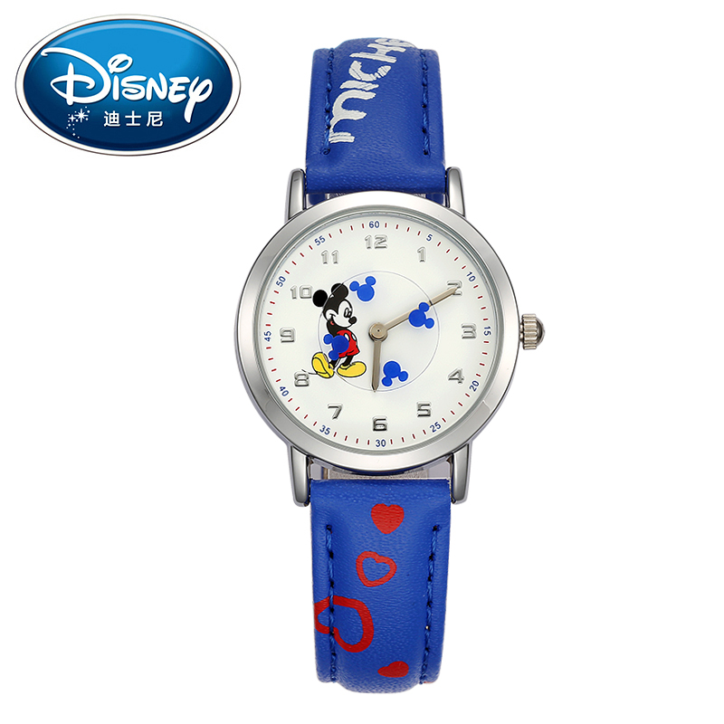 Authentic Disney brand women Mickey mouse pretty girl love gift charming leather quartz round watch female unbeatable price hour original disney brands girl pretty mickey mouse cartoon lovely watch best fashion casual simple quartz round leather watches