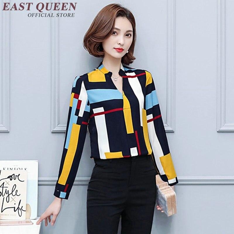 a6d1e05521 2018 mujeres tops blusas nuevas mujeres de moda blusas manga larga ropa de moda  china mujeres negocios ropa casual AA1997 W en Blusas y camisas de La ropa  ...