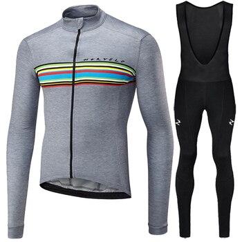 Runchita 2018 inverno fleece térmica de manga comprida definir bicicleta maillot ciclismo ropa de invierno bicicleta kit ciclismo roupas de inverno