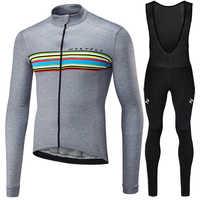 Conjunto de manga larga de lana térmica de invierno de Runchita 2018 conjunto de bicicleta de maillot de bicicleta de invierno Ropa de ciclismo Ropa de invierno
