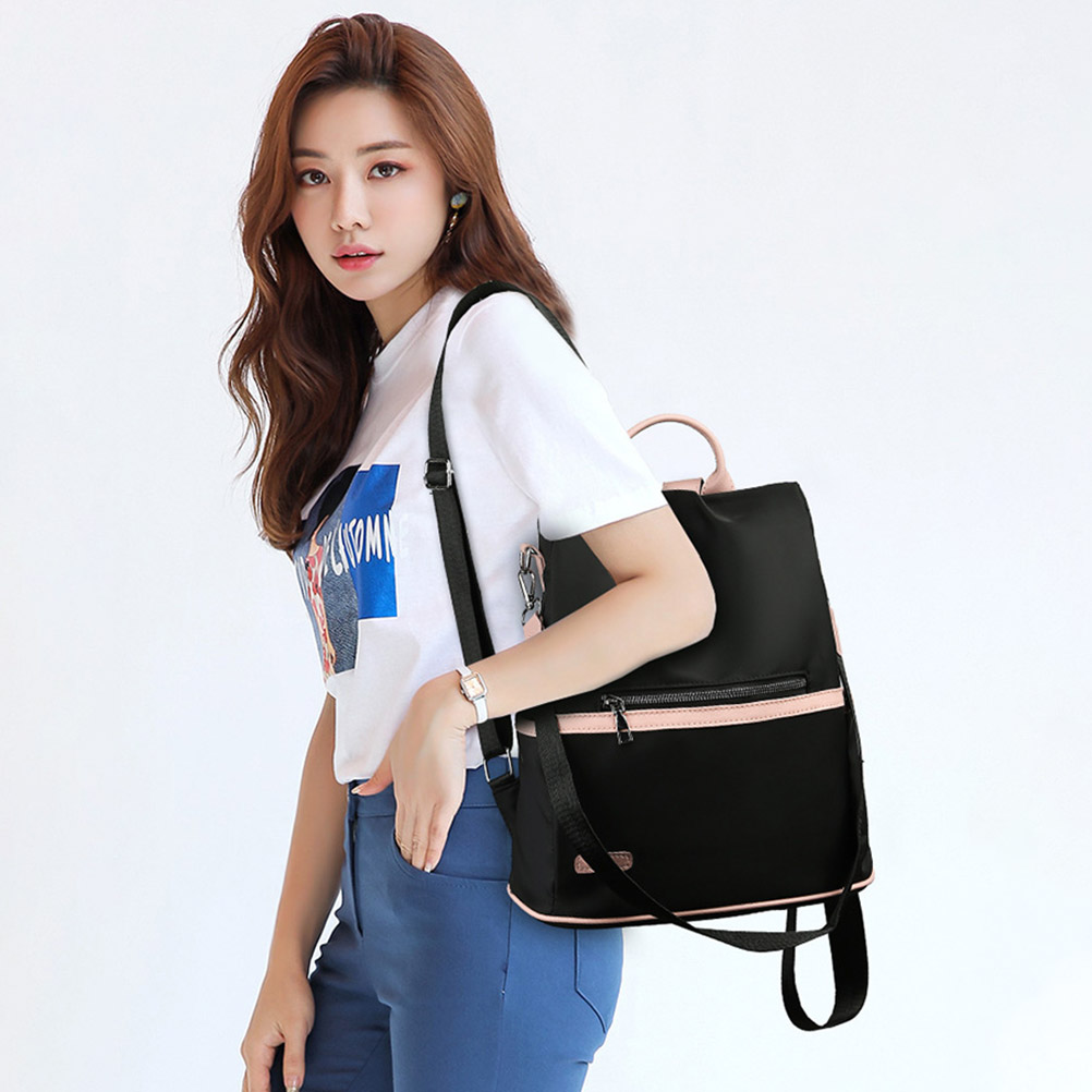 Image 3 - 2019 Women Simple Lightweight Anti theft Backpack Oxford Cloth Waterproof Shoulder Bag Female Travel laptop backpack-in Backpacks from Luggage & Bags