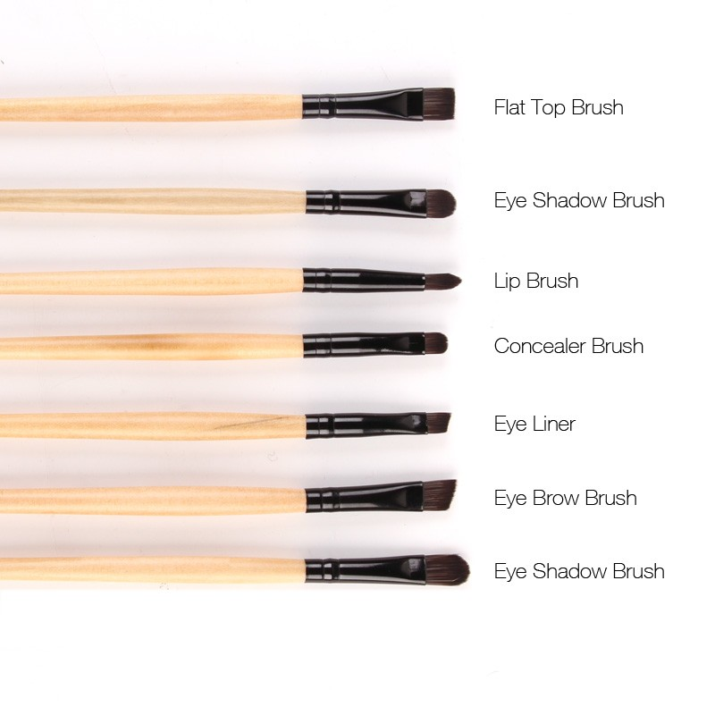 Stock clearance 32pcs print logo makeup brushes for Types of foundation and their uses